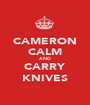 CAMERON CALM AND CARRY KNIVES - Personalised Poster A1 size