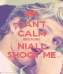 CAN'T CALM BECAUSE NIALL SHOOT ME - Personalised Poster A1 size