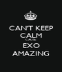 CAN'T KEEP CALM CAUSE EXO AMAZING - Personalised Poster A1 size