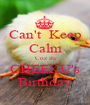 Can't  Keep Calm Coz its CHEEKU's Birthday - Personalised Poster A1 size