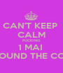 CAN'T KEEP  CALM FUCKING 1 MAI  IS AROUND THE CORNER - Personalised Poster A1 size