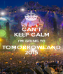 CAN'T KEEP CALM I'M GOING TO TOMORROWLAND 2015 - Personalised Poster A1 size