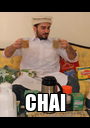 CHAI - Personalised Poster A1 size