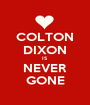 COLTON DIXON IS NEVER GONE - Personalised Poster A1 size