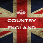 COUNTRY • ENGLAND  - Personalised Poster A1 size