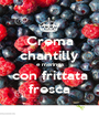 Crema chantilly e meringa con frittata fresca - Personalised Poster A1 size