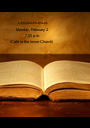 CROSSROADS Monday, February 2 7:00 p.m.     (Cafe in the lower Church)       - Personalised Poster A1 size