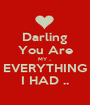 Darling You Are MY .. EVERYTHING I HAD .. - Personalised Poster A1 size