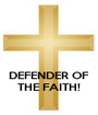 DEFENDER OF THE FAITH! - Personalised Poster A1 size