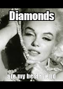 Diamonds are my best friend - Personalised Poster A1 size