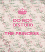 DO NOT DISTURB  THE PRINCESS   - Personalised Poster A1 size
