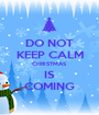 DO NOT KEEP CALM CHRISTMAS IS COMING - Personalised Poster A1 size