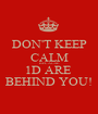 DON'T KEEP CALM BECAUSE 1D ARE  BEHIND YOU! - Personalised Poster A1 size