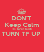 DON'T  Keep Calm It's Spring Break  TURN TF UP   - Personalised Poster A1 size