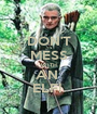 DON'T MESS WITH AN  ELF!  - Personalised Poster A1 size