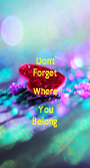 Don't Forget Where You Belong - Personalised Poster A1 size