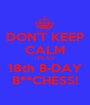 DON'T KEEP CALM IT'S MY 18th B-DAY B**CHESS! - Personalised Poster A1 size