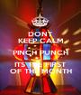 DONT KEEP CALM PINCH PUNCH ITS THE FIRST OF THE MONTH - Personalised Poster A1 size