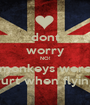 dont worry NO! monkeys were hurt when flying - Personalised Poster A1 size