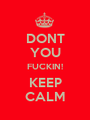 DONT  YOU FUCKIN! KEEP CALM - Personalised Poster A1 size