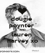 dougie  poynter  AND lauren  harvey xo - Personalised Poster A1 size