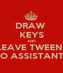 DRAW  KEYS AND LEAVE TWEENS TO ASSISTANTS - Personalised Poster A1 size