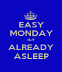 EASY MONDAY BUT ALREADY ASLEEP - Personalised Poster A1 size