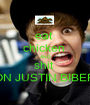eat  chicken  AND shit  ON JUSTIN BIBER - Personalised Poster A1 size