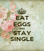 EAT EGGS AND STAY SINGLE - Personalised Poster A1 size