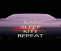 EAT SLEEP  KITT REPEAT - Personalised Poster A1 size