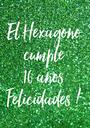 El Hexágono cumple 10 años Felicidades ! - Personalised Poster A1 size