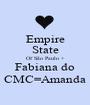 Empire State Of São Paulo + Fabiana do CMC=Amanda - Personalised Poster A1 size