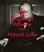 England Where My Heart Lies  - Personalised Poster A1 size