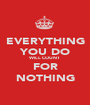 EVERYTHING YOU DO WILL COUNT FOR NOTHING - Personalised Poster A1 size