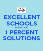 EXCELLENT SCHOOLS HAVE 100 1 PERCENT SOLUTIONS - Personalised Poster A1 size