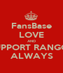 FansBase LOVE AND SUPPORT RANGGÂ ALWAYS - Personalised Poster A1 size