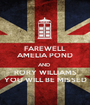 FAREWELL  AMELIA POND AND  RORY WILLIAMS YOU WILL BE MISSED - Personalised Poster A1 size
