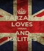 FARZANA LOVES IMRAN AND HALITI<3 - Personalised Poster A1 size