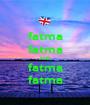 fatma fatma AND fatma fatma - Personalised Poster A1 size