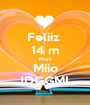Feliiz  14 m Mors Miio JDGGML - Personalised Poster A1 size