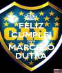 FELIZ CUMPLE! para MARCELO DUTRA - Personalised Poster A1 size