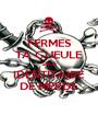 FERMES TA GUEULE SALE IDENTITAIRE DE MERDE - Personalised Poster A1 size