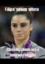 Filipa's face when  Classifications are a long way behind - Personalised Poster A1 size