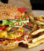 FIVE  GUYS ALL THE WAY - Personalised Poster A1 size