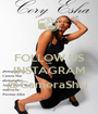 FOLLOW US ON INSTAGRAM @CameraShai  - Personalised Poster A1 size