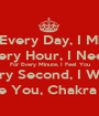 For Every Day, I Miss U For Every Hour, I Need You For Every Minute, I Feel You For Every Second, I Want You Foreve, I Love You, Chakra Ade Pratama - Personalised Poster A1 size