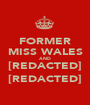 FORMER MISS WALES AND [REDACTED] [REDACTED] - Personalised Poster A1 size