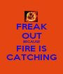 FREAK OUT BECAUSE FIRE IS CATCHING - Personalised Poster A1 size