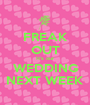 FREAK OUT It's our WEDDING NEXT WEEK - Personalised Poster A1 size