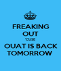 FREAKING OUT 'CUSE OUAT IS BACK TOMORROW  - Personalised Poster A1 size